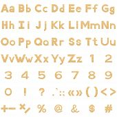 image of punctuation  - Set of letters - JPG