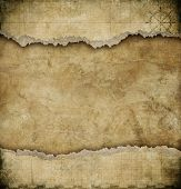 pic of treasure map  - old torn paper vintage map background - JPG