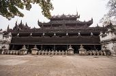 picture of significant  - Shwenandaw Kyaung temple or Golden Palace Monastery is one of the most significant historic buildings in Mandalay - JPG