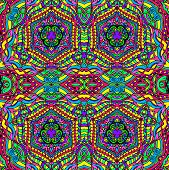 image of psychedelic  - Hand drawn abstract background ornament illustration psychedelic - JPG