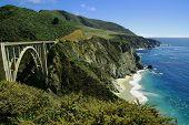 picture of bixby  - The Landmark Bixby Bridge on Pacific Coast Highway - JPG