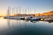 stock photo of zea  - Sail boats in Zea Marina in Athens - JPG