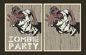 foto of zombie  - Vector party Poster - JPG