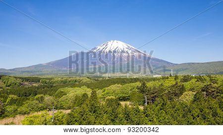 Panoramic Of Fuji Mountain