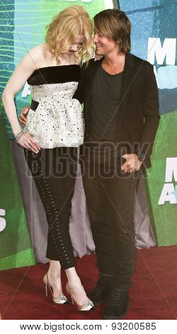 NASHVILLE, TN-JUN 10: Actress Nicole Kidman and singer Keith Urban attend the 2015 CMT Music Awards at the Bridgestone Arena on June 10, 2015 in Nashville, Tennessee.