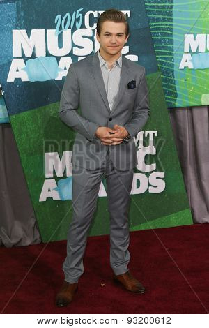 NASHVILLE, TN-JUN 10: Singer Hunter Hayes attends the 2015 CMT Music Awards at the Bridgestone Arena on June 10, 2015 in Nashville, Tennessee.