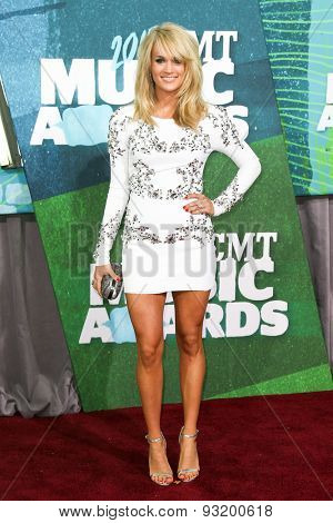 NASHVILLE, TN-JUN 10: Singer Carrie Underwood attends the 2015 CMT Music Awards at the Bridgestone Arena on June 10, 2015 in Nashville, Tennessee.