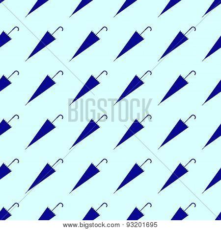 Pattern With Navy Umbrellas