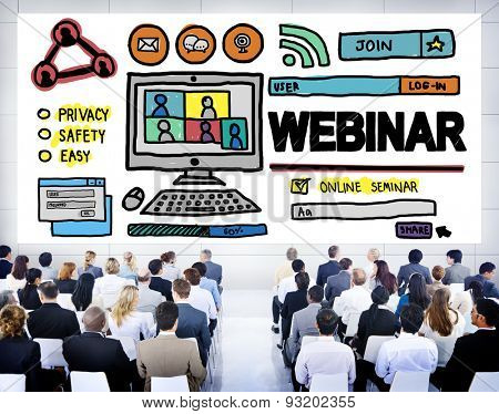 Webinar Online Seminar Global Conmmunications Concept