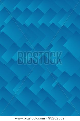 Illustrated blue background