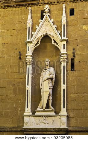 Statue Of St. George, Florence, Italy