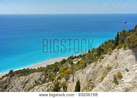 Blue Waters of Gialos Beach, Lefkada