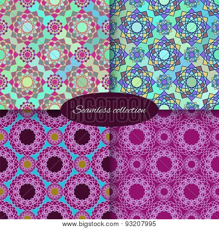 Collection Of Patterns With Round Ornaments