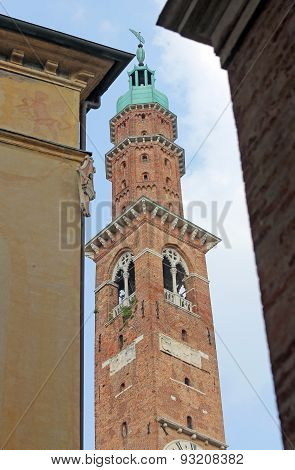 Clock Tower In The Main Square In The Vicenza