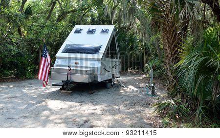 Camper at State Park