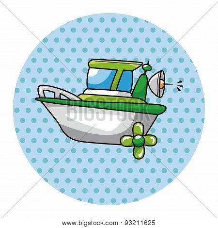 Transportation Boat Theme Elements