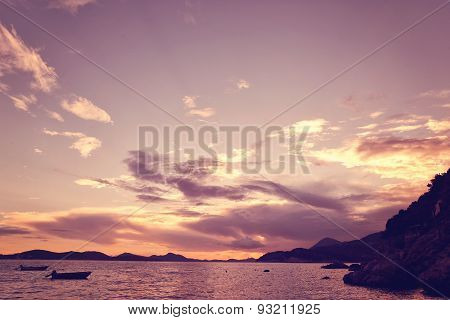Beautiful sea view in Dubrovnik, Croatia