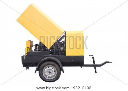 air compressor isolated under the white background