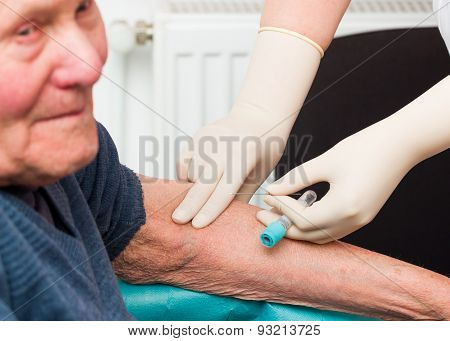 Elderly Patient At The Ambulatory