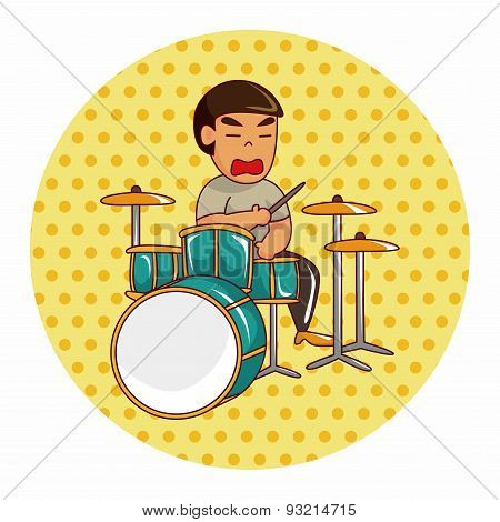 Band Member Drummer Theme Elements