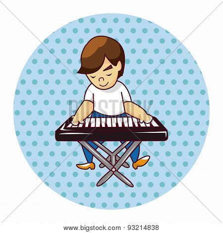 Band Member Keyboard Player Theme Elements