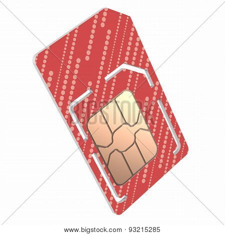 Sim Card Illustration, Dual Sized Verstion