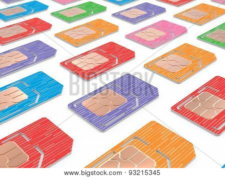 Background of Sim Cards Illustration, Dual Sized Verstion