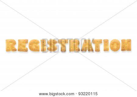 The Letter Word Registration. Alphabet  Cookie Cracker