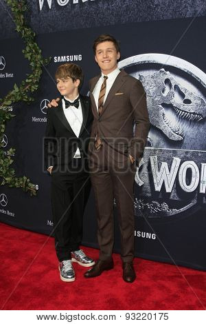 LOS ANGELES - JUN 9:  Ty Simpkins, Nick Robinson at the