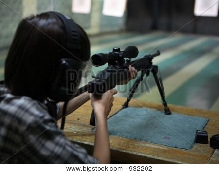 Child Shooting Rifle