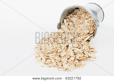 Oat Flakes  Spilling Out Of Bucket
