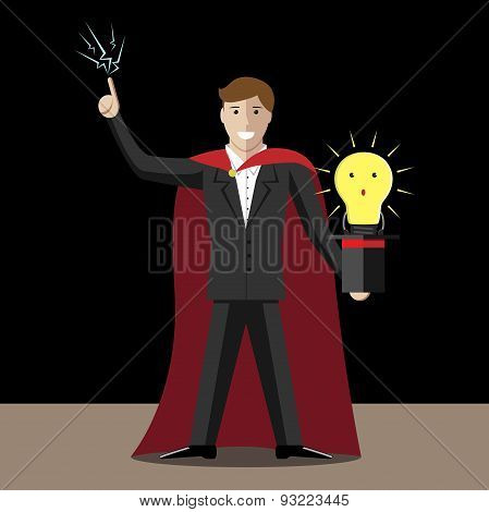 Magician And Light Bulb