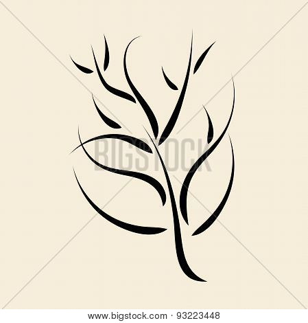 Calligraphic Tree Or Bush