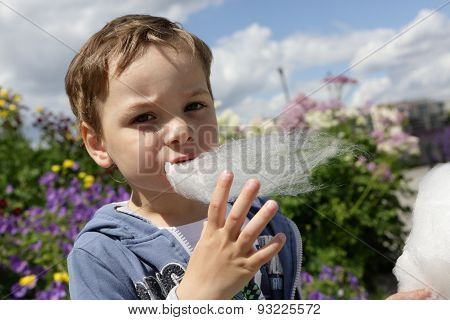 Kid Eating Fairy Floss
