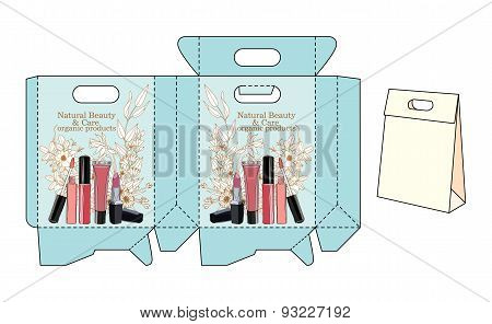 template bags for cosmetics