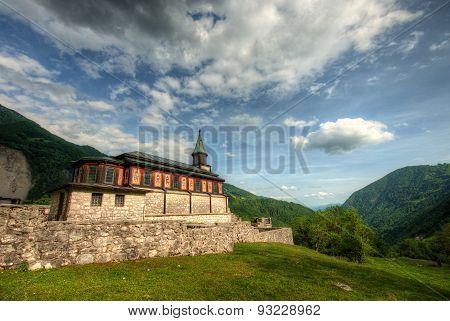 Holy Spirit Church Javorca In Slovenian Alps A Memorial Of First World War