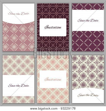 Set Of Save The Date Templates