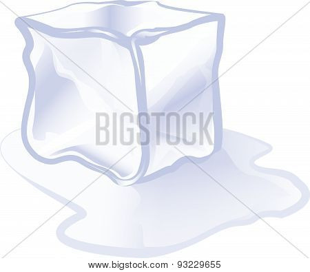 Ice Cube Ice Block Icon Vector Illustration