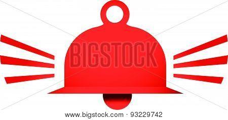 Red Ringing Bell Vector Icon Illustration Symbol Sign