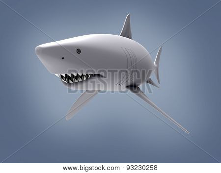 Great White Shark Isolated On Background