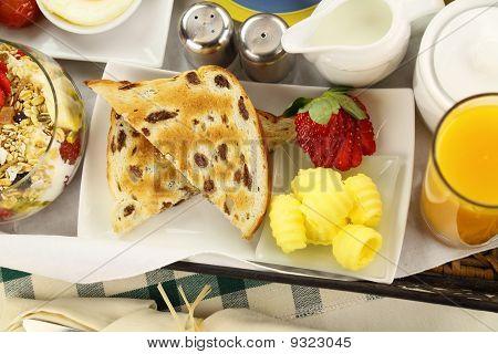 Raisin Toast Breakfast