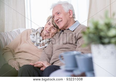 Aged Couple Dating At Home