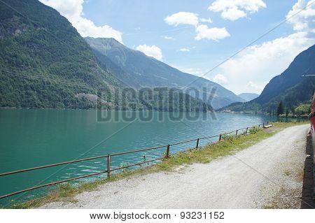 Lake Poschiavo in Graubunden