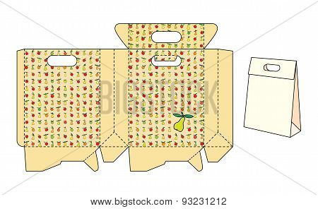 Template package with fruit pattern