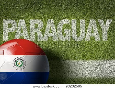 Soccer field with the text: Paraguay