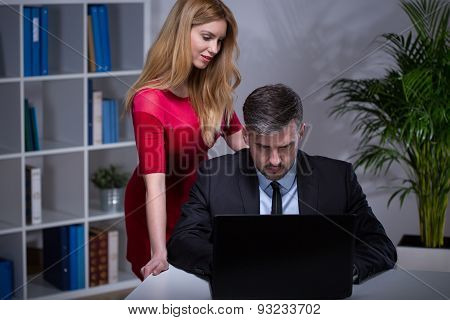 Sexy Secretary Seducing Her Boss