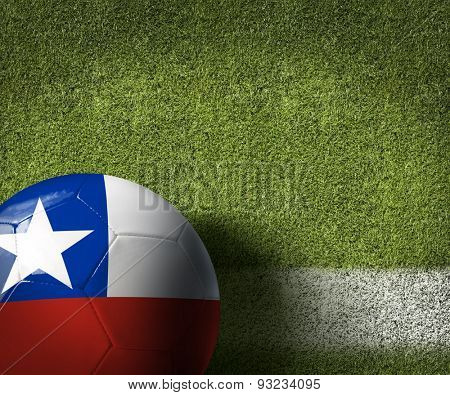 Soccer field with Chilean Ball