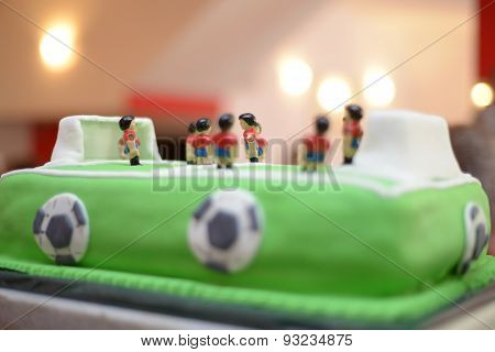 Future Soccer  Player. Baby Boy Birthday Cake Stadium Like