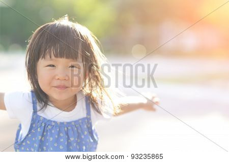 Happy Cute Little Girl