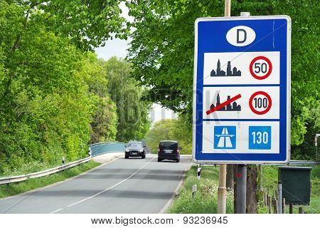 Speed limits in Germany